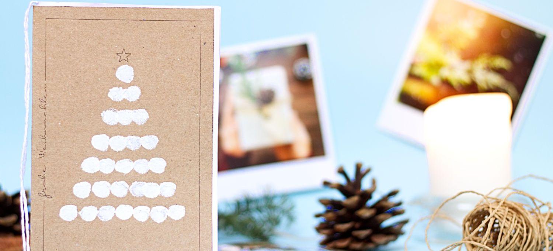 Der Letzte Weihnachtsbaum.Diy Karte Weihnachtsbaum Kostenlose Bastelvorlage Mit Fingerabdruck