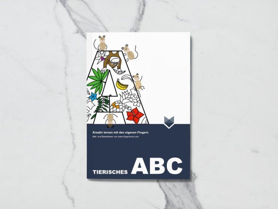 Schultüte füllen mit unserem Tierischen ABC - Malbuch Cover