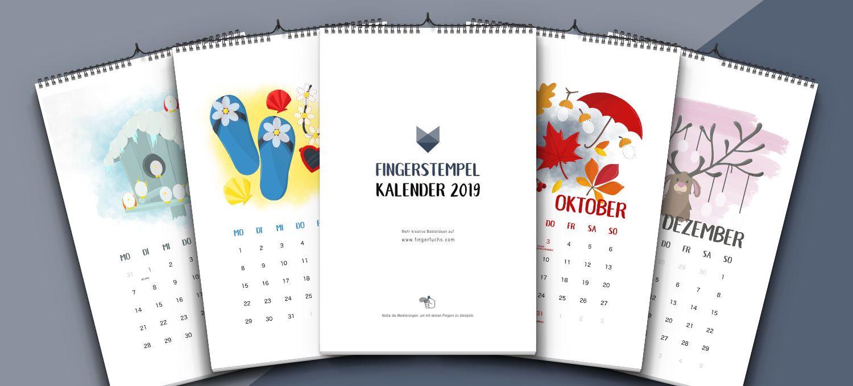 Bastelkalender 2019 Übersicht