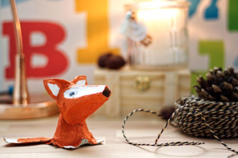 Fuchs basteln aus Eierkarton Header