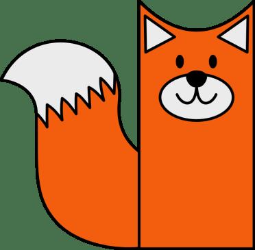 Bastelvorlage Fuchs basteln aus Klopapierrolle