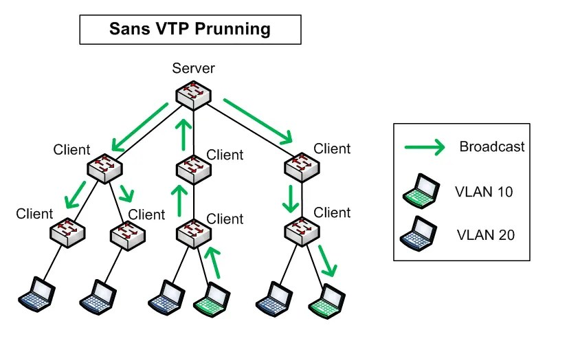 Architecture without VTP Prunning