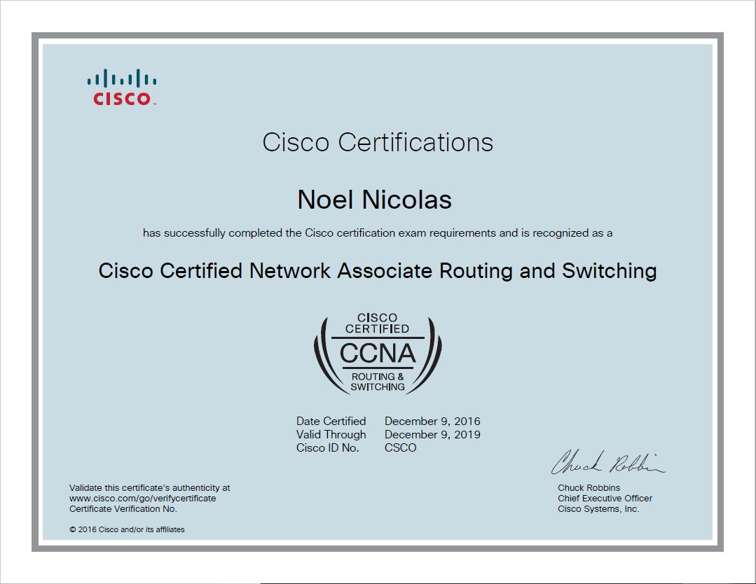 CCNA Certificate
