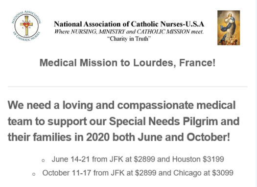 NACN Mission to Lourdes
