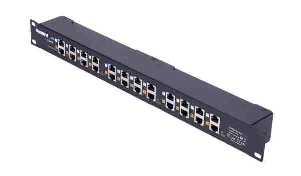 Twelve Port Power Injector Patch Panel Borer Fingerprint Access Control