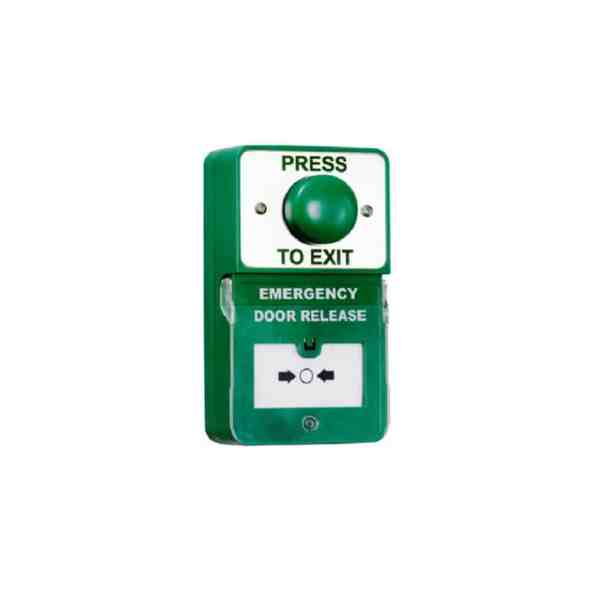 dual green domed exit button