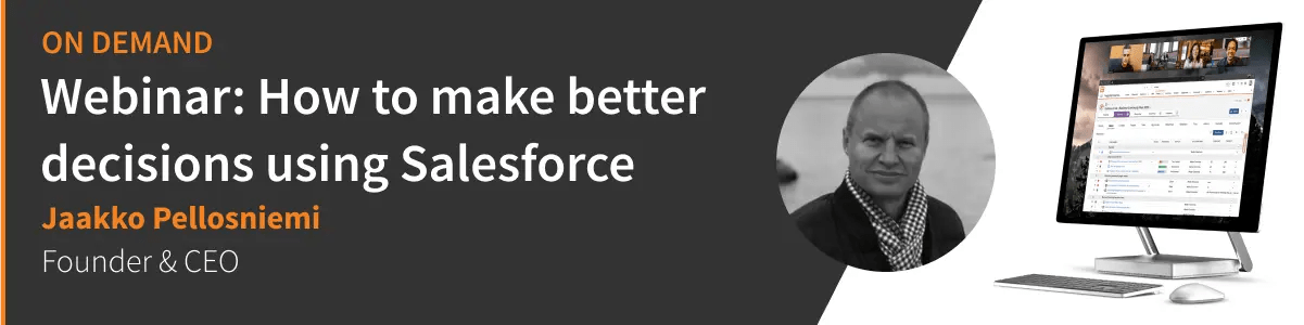 On-demand Webinar: How to make better decisions using Salesforce with Fingertip, click here to read more and watch