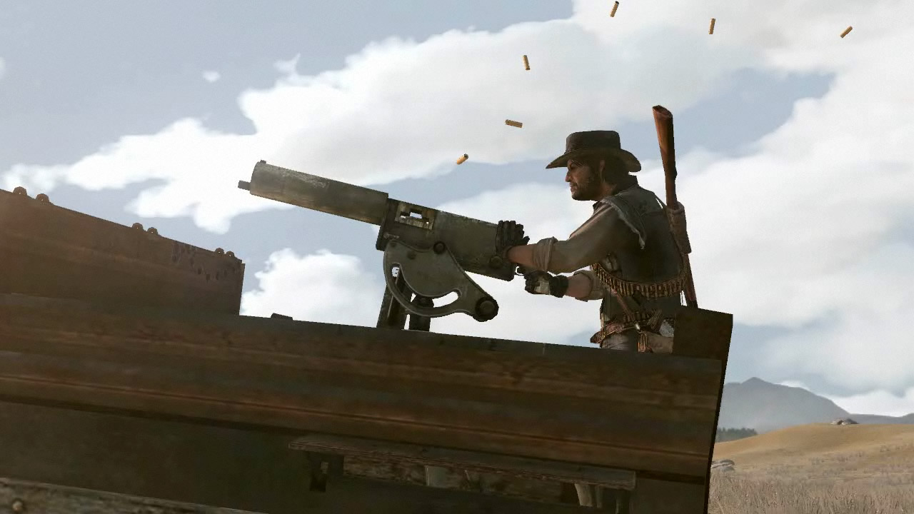red dead redemption maxim gun