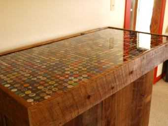 Eamus Catuli Table Top Restoration Project Epoxy Resin Style