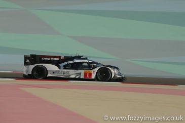 Porsche Team Porsche 919 Hybrid #1 driven by Timo Bernhard / Mark Webber / Brendon Hartley during free practice 1 for the FIA WEC 6 Hours of Bahrain from Bahrain International Circuit, Umm Jidar, Sakhir, Kingdom of Bahrain