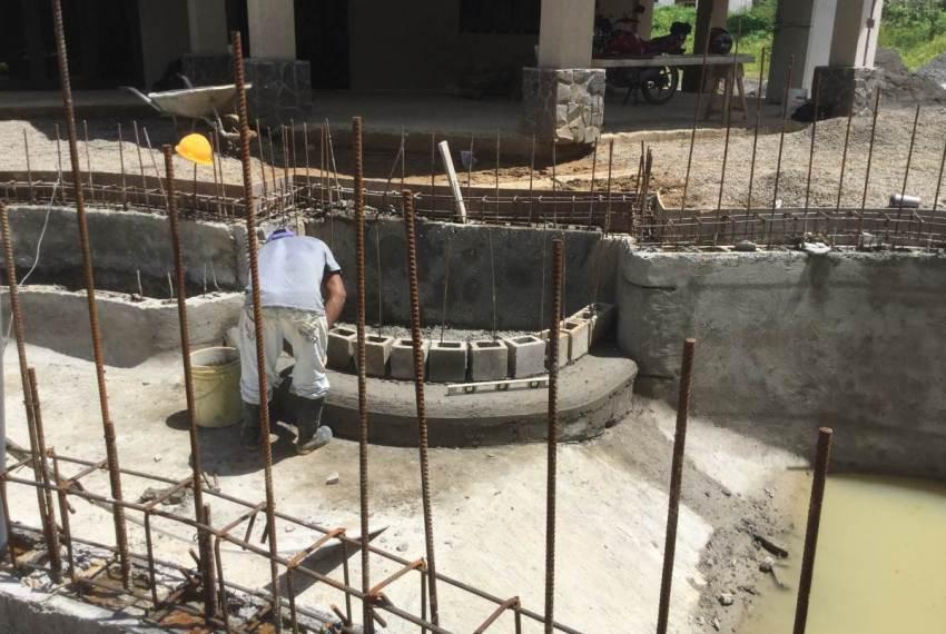 Pool at custom home design