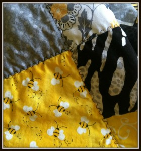Bee Themed Stadium Blanket