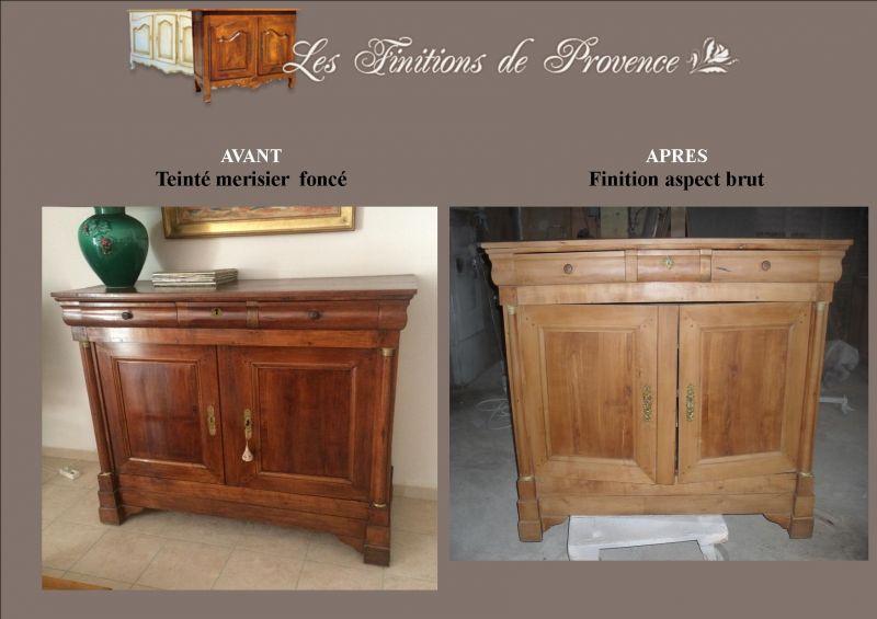 meuble ancien relooke aspect brut bois