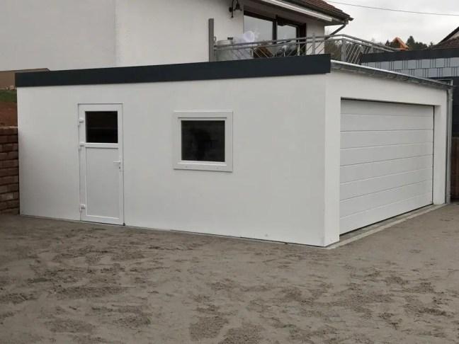Maßfertigung einer Fink Garage im Saarland