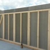 Fink Garage Dautphetal / Hessen - Wandelement aus Holz