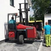 Fink Garage / Groß-Umstadt / Hessen - Anlieferung Holzständergarage