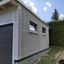 Fink Garage Seitenansicht Holzständerbauweise