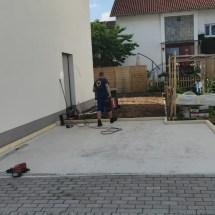 Fink-Garage Holzständerbauweise Winkelgarage L-Form Fundament Weiterstadt