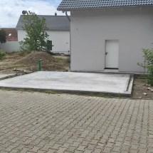 Fink Garage vorhandene Bodenplatte