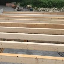 Fink Garage Dachsparren werden beplankt