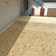 Fink Garage Dach beplankt