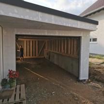 Fink Garage Frontansicht mit Trapezvordach