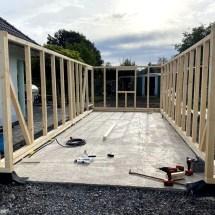 Fink Garage Holzständerbauweise Bausatz Aufbau Seitenelemente