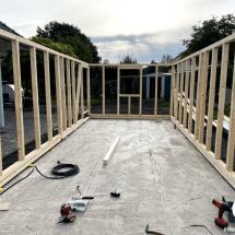 Fink Garage Holzständerbauweise Bausatz Aufbau Grundkorpus 1