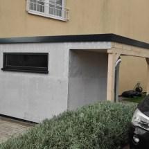 Fink Garage - Minigarage mit Überdachung - Seitenansicht unverputzt