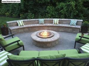 Patio, Firepit, Deat Wall