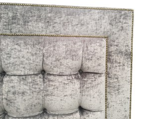 Headboard - studded with square tufting detail