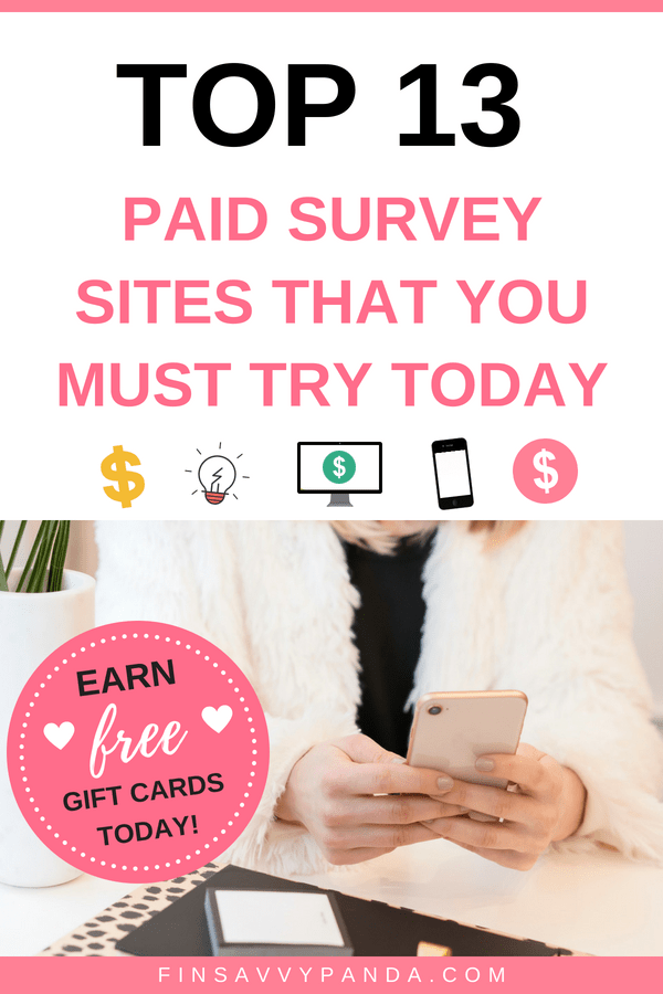 The Top Online Survey Sites To Join Today - Finsavvy Panda