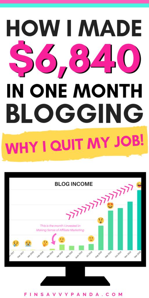 blog income report december
