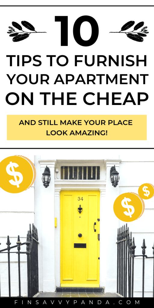 how to furnish apartment on a budget cheap