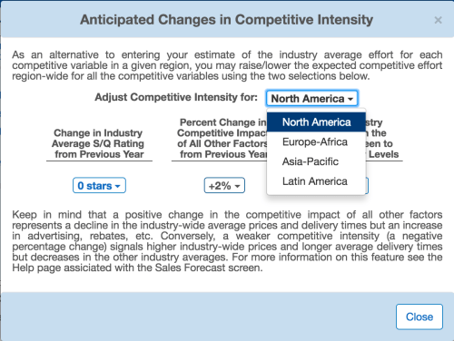 Anticipated Changes in Competitive Intensity (BSG)