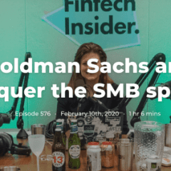 399. Will Goldman Sachs and Amazon conquer the SMB space?