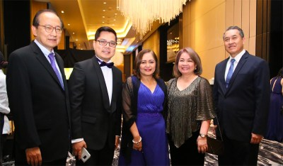 Sun Savings Chairman and CEO Francisco Dizon; FINTQ Managing Director Lito Villanueva; BSP Deputy Governor Chuchi Fonacier; Chamber of Thrift Banks Executive Director Suzanne Felix; RCBC Savings Bank President and CEO Rommel Latinazo