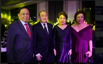 Insurance Commissioner Dennis Funa; PLDT Group Chairman Manuel V. Pangilinan; Producers Bank Chairperson Gilda E. Pico; Agricultural Guarantee Fund Pool Executive Director Edna Atienza