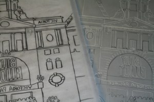 VP linocut sketch