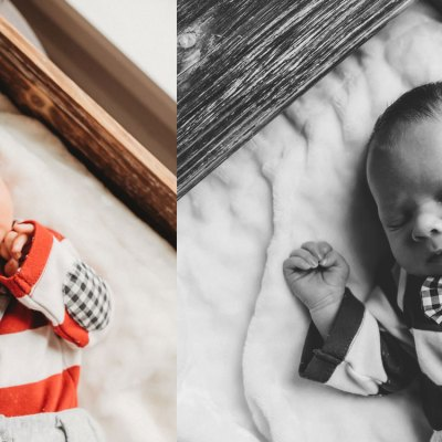 Cutest baby boy newborn session in Snohomish