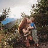 hurricane ridge mom and son photo