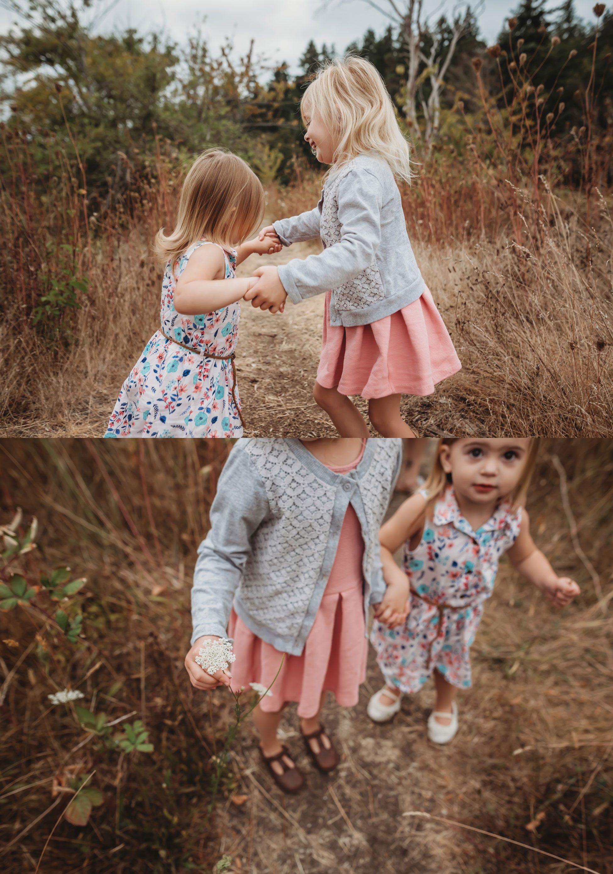 sweet sisters at photography session