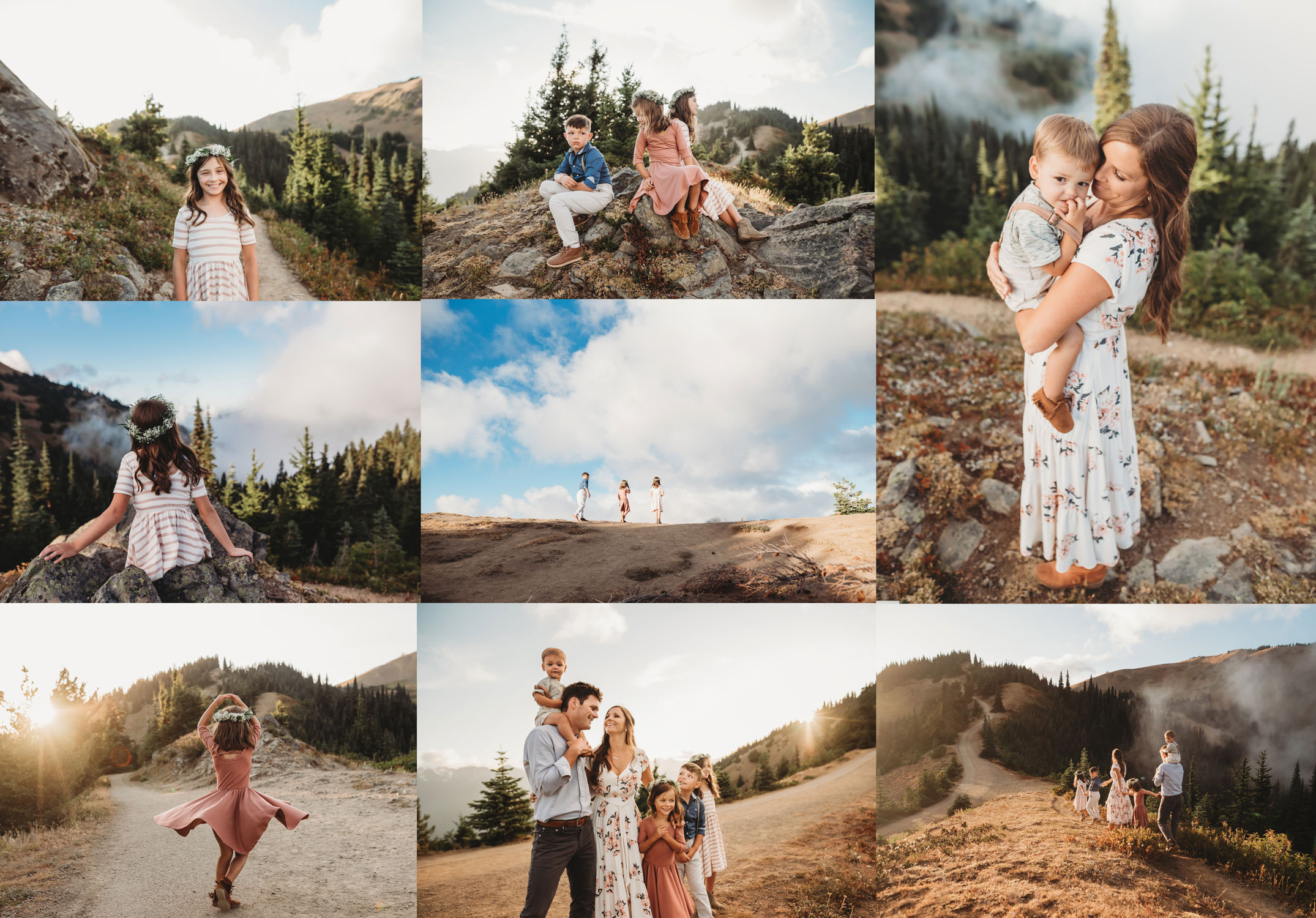 Family photography shoot at hurricane ridge seattle family photographer