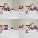 new big sister meets newborn boy