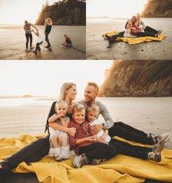 family photography at washington state beach