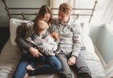 seattle newborn session family photo