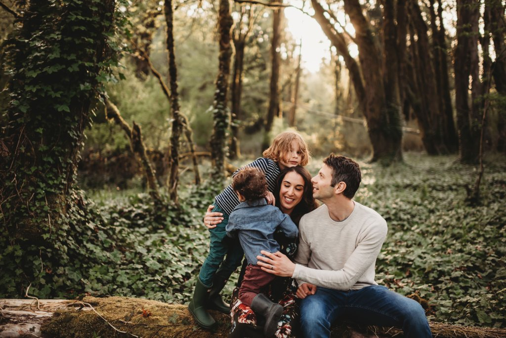 family session in the magical family forest