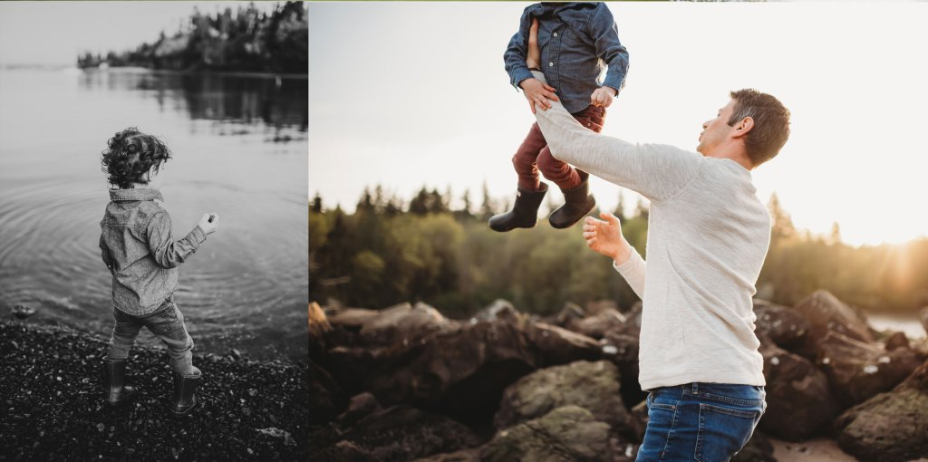 playful dad and son photography