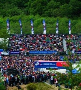 Huge crowds at the Scottish Mountain Bike World Cup