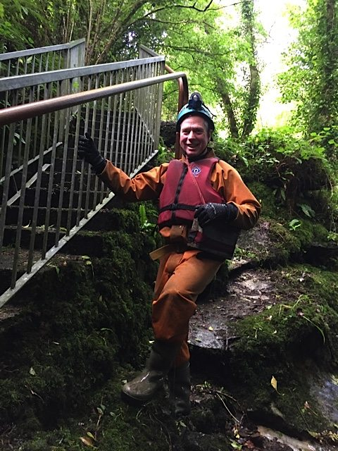 Marius, our caving instructor, from Corralea Activity Centre.